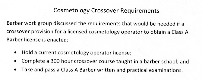 Cosmetology Crossover Handout